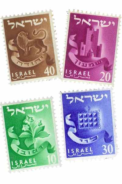 12 tribes of israel symbols stamps