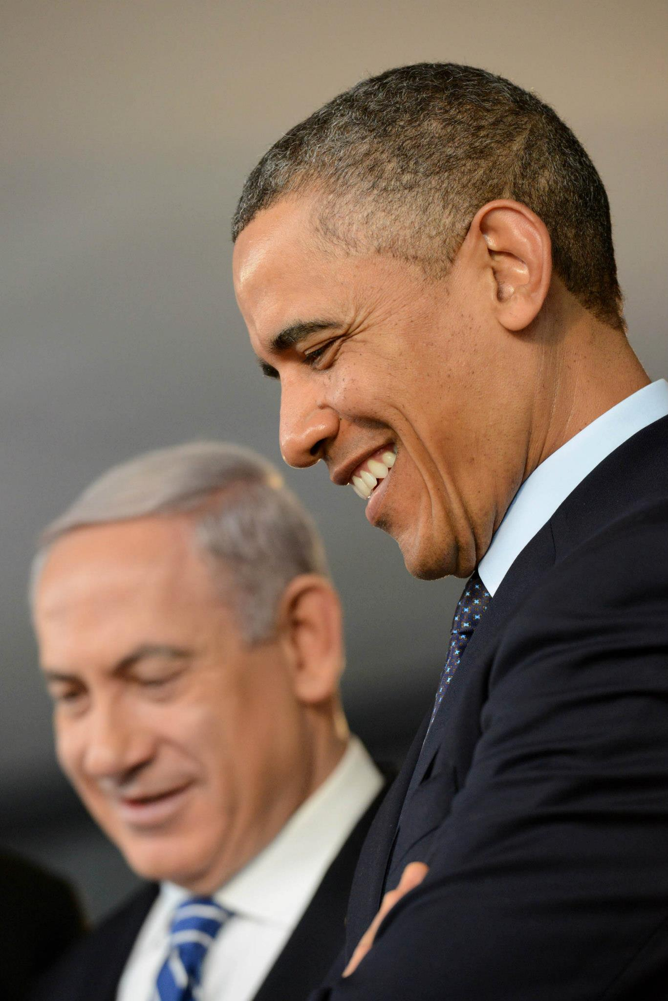 Photos of Netanyahu and Obama in Israel