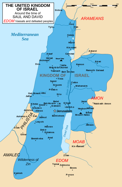 ancient map of israel