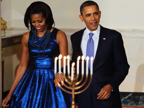 hanukkah pictures barack obama