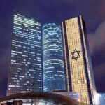 Azrieli Center in Tel Aviv celebrating the day.