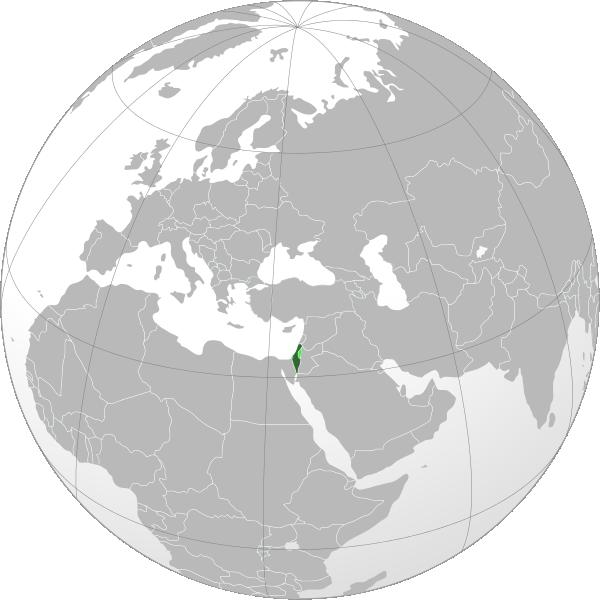 israel on world map