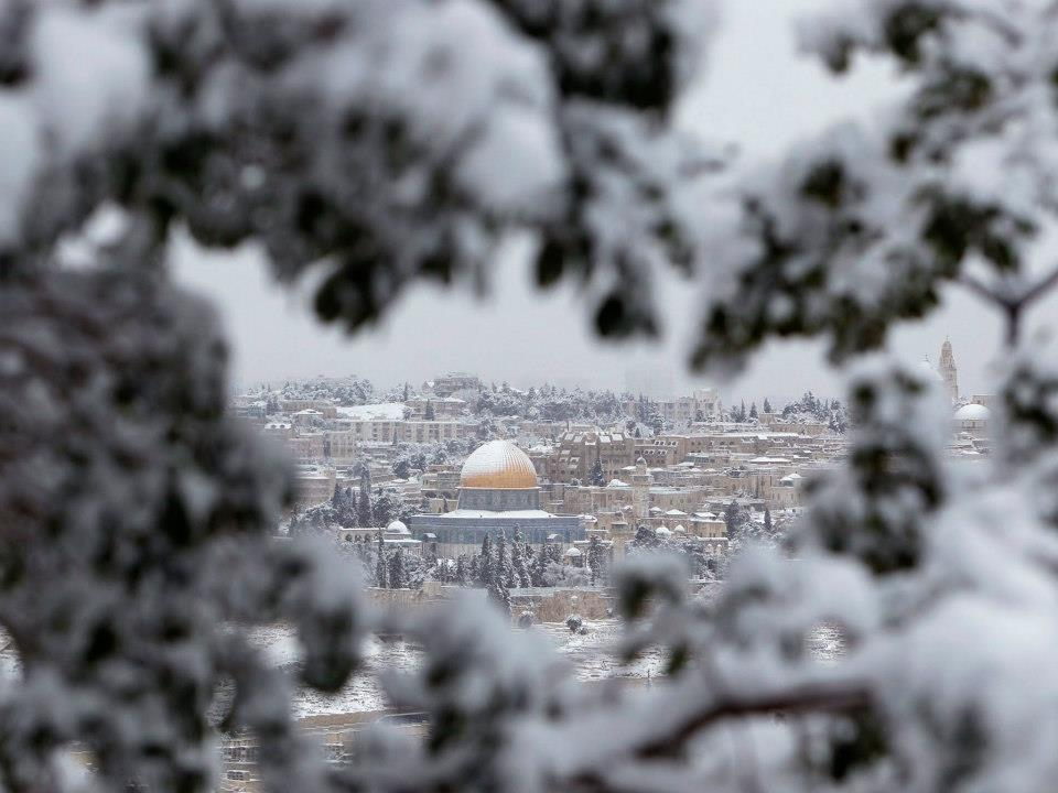 Temple Mount Under Snow