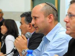 Naftali Bennett and Barack Obama in Israel