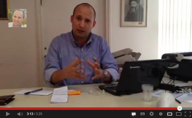 Naftali Bennett Video Message
